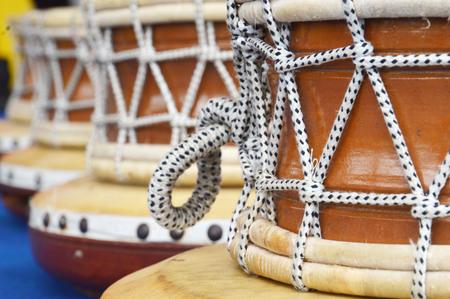 reggae: d�tail de tambour traditionnel brun Banque d'images