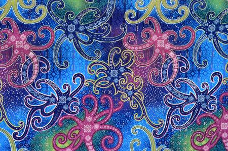 batik: motifs d�taill�s de Born�o en Indon�sie batik