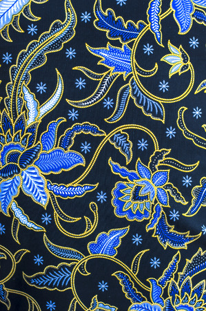 Detailmuster Indonesien Batiktuch Standard-Bild - 40041577