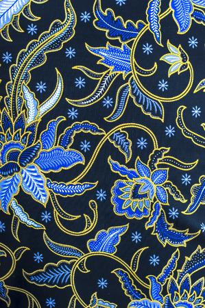Patrones detallados de tela de batik en Indonesia Foto de archivo - 40041577
