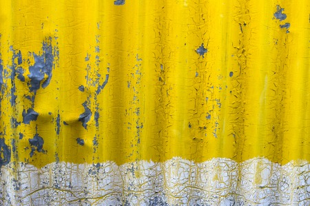 old yellow zinc wall background Stock Photo