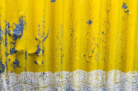 zinc: old yellow zinc wall background Stock Photo