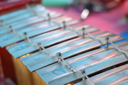 gamelan: gamelan is a traditional musical instrument of Indonesia Stock Photo