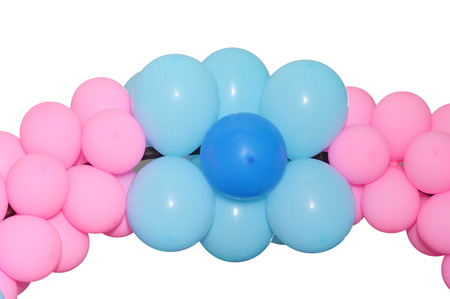coloured background: balloons gate on blank white background