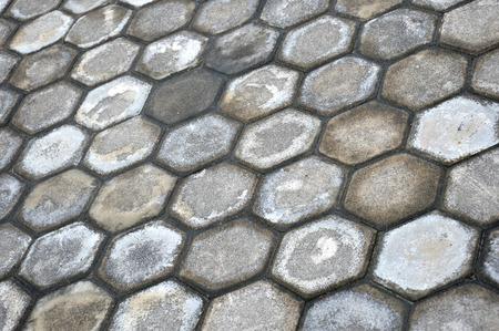 octagonal: pattern octagonal on the paving block