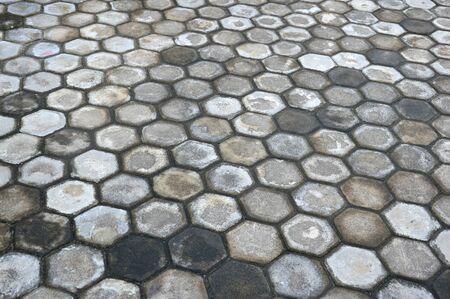 octogonal: octogonal patrón en el bloque de pavimentación