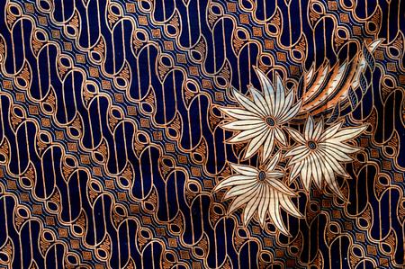 detailed pattern of batik cloth Stock Photo