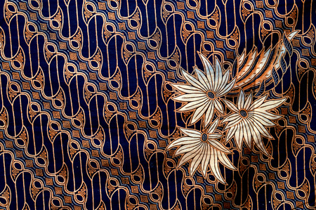 Detallado patrón de tela de batik Foto de archivo - 52823425