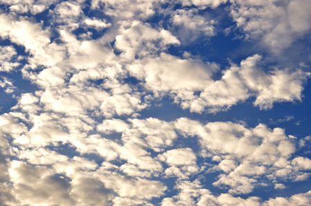expanse: expanse of clouds in the blue sky Stock Photo
