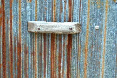 corrugated steel: old zinc wall background Stock Photo