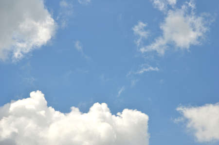 beautiful heaven: expanse of clouds in the blue sky Stock Photo