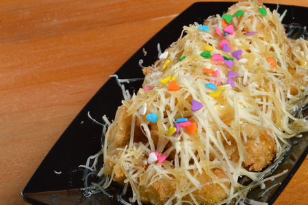 platanos fritos: crujientes pl�tanos fritos con queso rallado