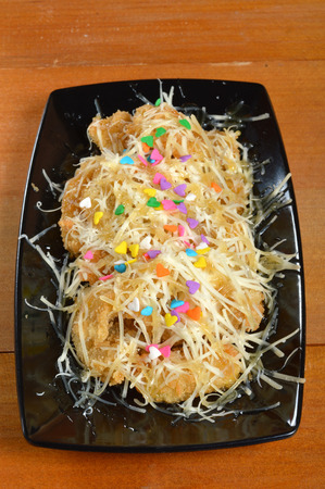 platanos fritos: crujientes plátanos fritos con queso rallado