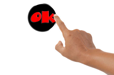 ok button: forefinger pressing ok button