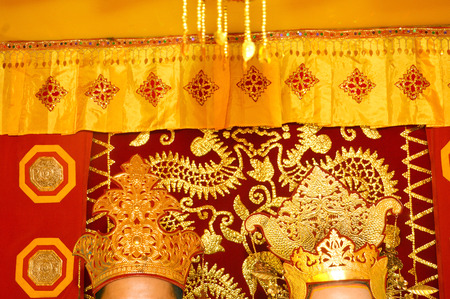 wedding customs: Traditional wedding decorations Tidung native tribes of Borneo