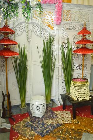 wedding customs: flower petals in water used in Javanese Indonesia  traditional wedding ceremony