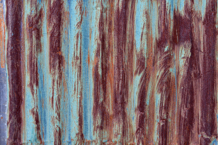 grooved: old zinc wall background Stock Photo