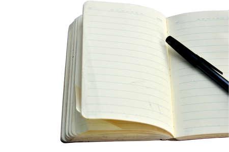 ballpoint: white book with ballpoint