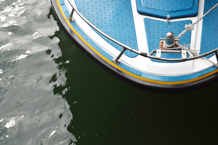 tightness: speedboat at anchor with top view