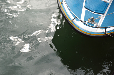 speedboat: speedboat at anchor with top view
