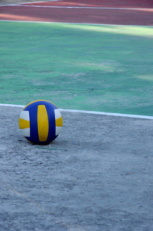 a ball volleyball on volleyball courts