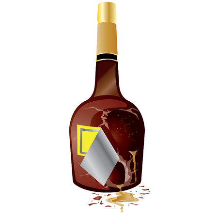 breakable: broken wine bottle