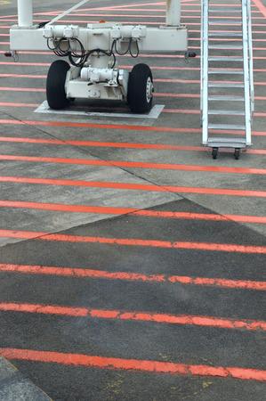 aircraft wheels on the airport runway