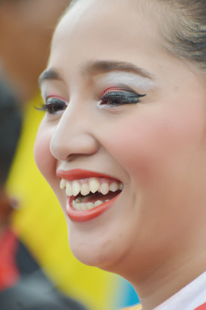 TARAKAN, INDONESIA. 22th January 2017. portrait beautiful girl on the marching band competition at Don Bosco school Tarakan, Indonesia Editorial