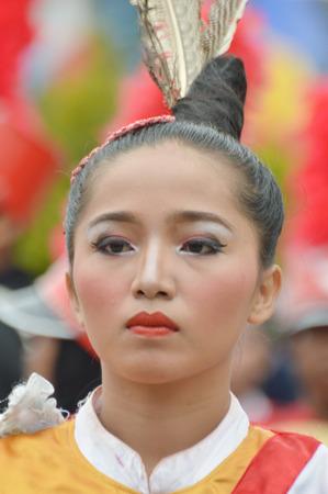 TARAKAN, INDONESIA. 22th January 2017.marching band competition at Don Bosco school Tarakan, Indonesia Editorial