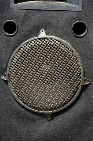 grille: detailed of black metal sound cover