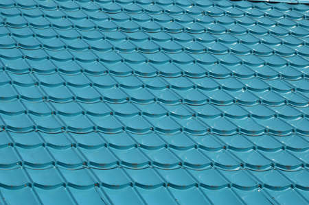 stainless steel: pattern of blue roof tiles