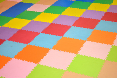 pattern on colorful rubber mat