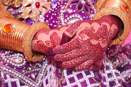 Henna On Hands Of Indonesian Wedding Bride Stock Photo