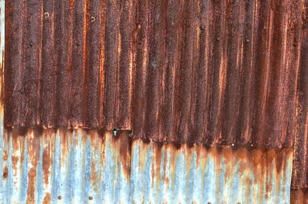 steel sheet: old zinc wall background Stock Photo