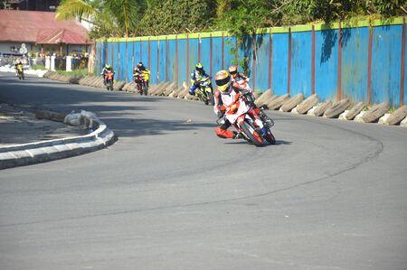 TARAKAN, INDONESIA. 20th May 2017. Motoprix national championship oin the non-permanent circuit Datu Adil Tarakan Stadium Editöryel