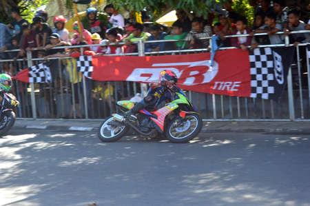 TARAKAN, INDONESIA. 21th May 2017. Motoprix national championship oin the non-permanent circuit Datu Adil Tarakan Stadium Editöryel