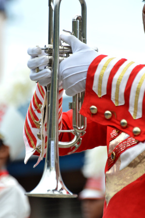 Detailed drumband instrument and property Stock Photo