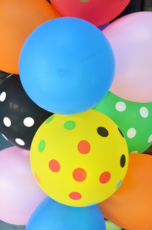 colorful of  balloons background Stock Photo