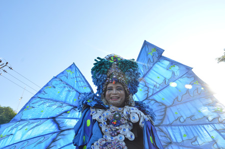 TARAKAN, INDONESIA - 16th September 2016 : portarit of participants carnival in Tarakan Indonesia