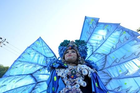 sexy asian woman: TARAKAN, INDONESIA - 16th September 2016 : portarit of participants carnival in Tarakan Indonesia