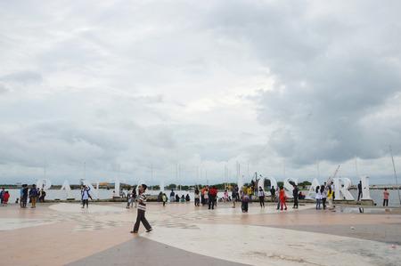 MAKASSAR, INDONESIA. 3th January 2014. Losari Beach Makassar Indonesia