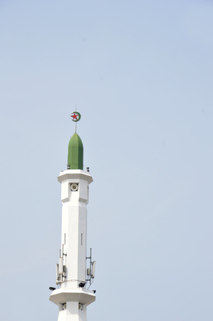 the dome of mosque against blue sky