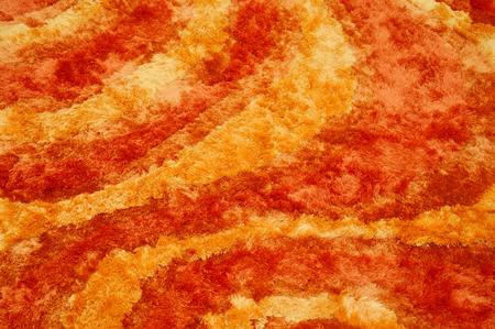 background red and orange velvet fabric 写真素材