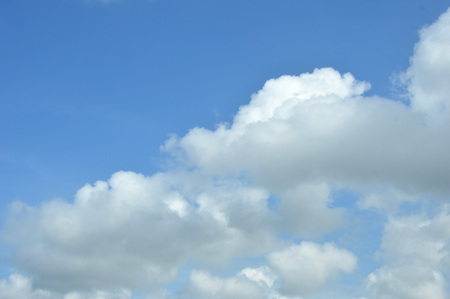expanse of clouds in the blue sky Stock Photo
