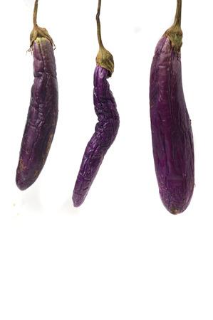rotten eggplant isolated on white background Archivio Fotografico