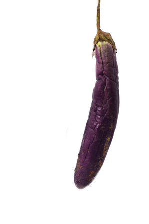 rotten eggplant isolated on white background Foto de archivo