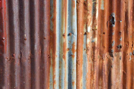 old zinc wall background Archivio Fotografico