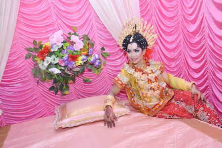TARAKAN, INDONESIA - 19th March 2016 :  Portarit of beautiful traditional Bugisnese Indonesian Wedding Bride Editorial