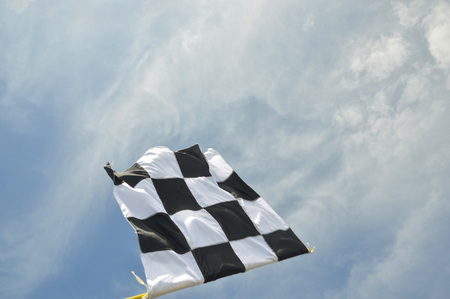 start flag against the sky