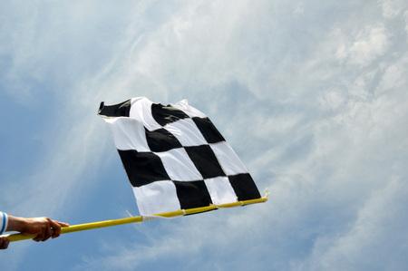 Startflagge gegen den Himmel Standard-Bild